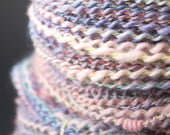 Fantaisie, handspun and hand dyed Leicester yarn, bouclé, worsted weight, 235 yards