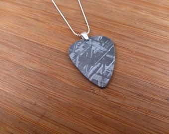 Muonionalusta Iron Meteorite Guitar Pick Pendant / necklace