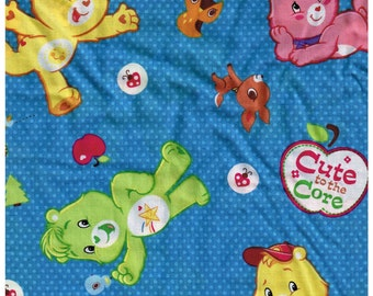 1/2 Yard Cut Care Bears 100% Cotton Fabric for Sewing Crafts .5 Yd Material Blue with Dots Cranston Carebears