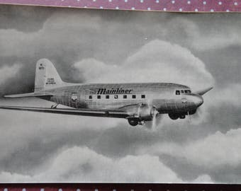 United Airlines Mainliner Express NC 16070 Unused Postcard