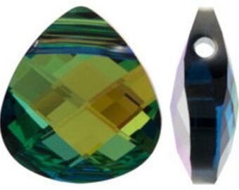 Large Swarovski 6012 Flat briolette in sahara - 15.4x14mm - Swarovski pendant - crystal