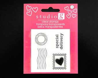VALENTINE POSTAL MARKS Mini Clear Stamp Set