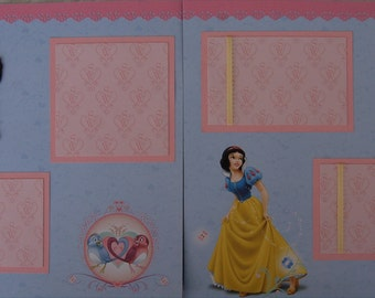 DISNEY Snow White - Premade Scrapbook Pages w/ Paper Piecings - SSFF