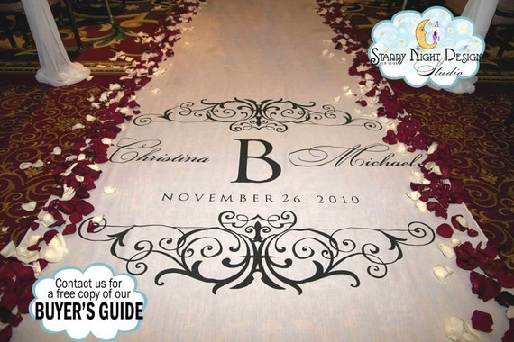 Aisle Runner, Wedding Aisle Runner, Custom Aisle Runner,  Quality Fabric Aisle Runner - Real Fabric - Will NOT Rip or Tear