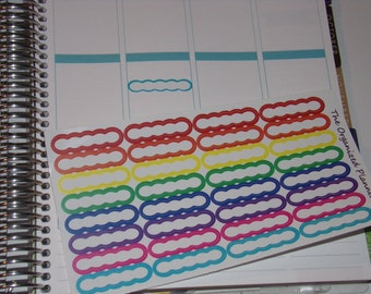 32 Rainbow Bubble Appointment Label Stickers / Great for your Erin Condren Life Planner, Happy Planner, and more!