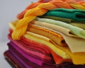 Sumac, Autumn Color Inspiration Bundle, Hand Dyed Velvet,Wool Felt, Wool Applique, Crazy Quilting,Vintage Velvet,Reclaimed Clothing