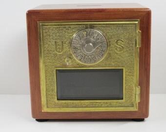 Eagle Lock Co 1896 Bloodwood Beveled Glass Post Office Box Door Bank pg104