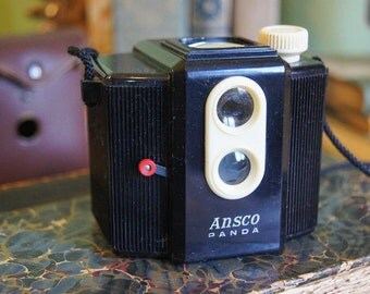 Vintage Camera - Ansco Panda  - Cute!