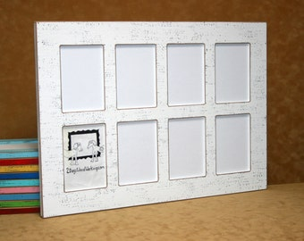 picture frame 8 4 x 6 or 5 x 7 wall collage frames multi photo frame window pane frame multiple opening distressed picture frames