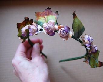 Romantic chic fairy millinery flower headband