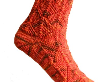Fairytale socks Orange,  size EU 37/38  UK 5/5.5 US 7/7.5