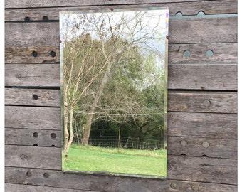 Vintage Mirror - Large Mirror - Decorative Wall Mirror - Wall Mirror - Shabby Chic Mirror - Beveled Mirror - Bathroom Mirror - Vanity Mirror