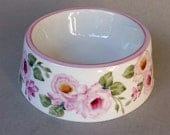 Small Pink Rose Spill Proof Pet Bowl