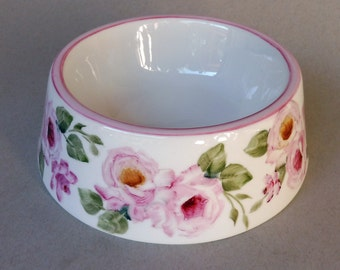 Pink Rose Spill Proof Pet Bowl - Small