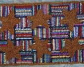 Mustard Stars on Hit 'n Miss Primitive Rug Hooking Kit on Rug Hooking Linen