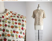 ONE DAY SALE 1950s farmers market blouse