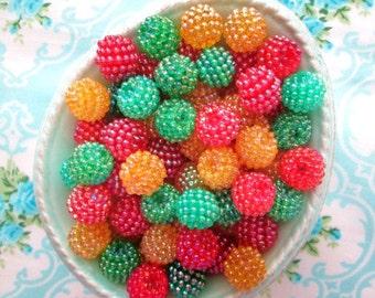 Berry Beads - Apple Harvest Basket - 15mm - Set of 20