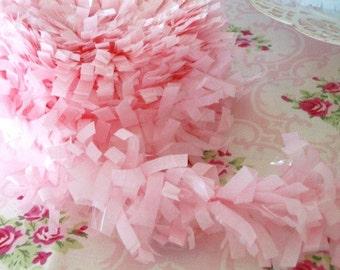 Tissue Garland Festooning Fringe - Cotton Candy Pink - 2 inch - 1 Yard