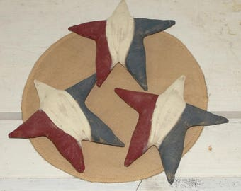 Primitive Americana Painted Grungy Stars-Bowl Fillers-4th of July-Handpainted-Independence day-Primitive Home Decor-Decoration