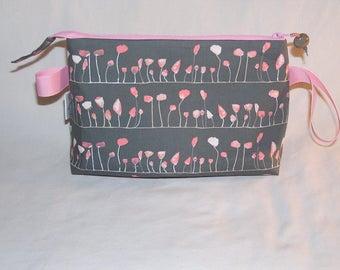 Windowbox Floral on Grey Tall Mia Bag