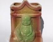 Vintage Buddha Shawnee Pottery Planter USA 524