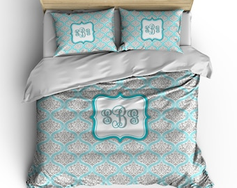 Personalized Custom Dream Damask Bedding -Available Toddler, Twin, Full-Queen or king size, Any Color
