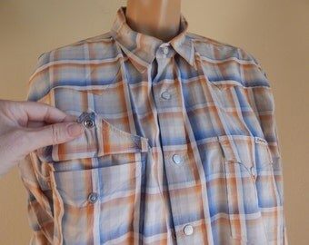 mens pearl snap shirt, plaid shirt, western shirt