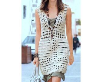 INSTANT DOWNLOAD PDF Vintage Crochet Pattern   Summer Sun Shift Dress Lace Tunic Beach Cover Up    Retro Plus Free Pattern