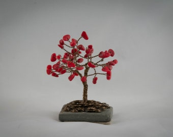 Mini Gemstone Tree with Coral