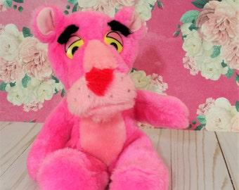 Vintage Pink Panther plush Suffed Animal toy 1980 Ground Nutshells