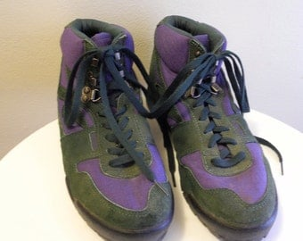 Two tone 70s / 80s Hi-Tec hiking boot sneaker sz. 9.5