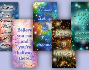 Digital Collage Sheet Beautiful Life Quotes Quotations for Collage Art Mixed Media Jewelry Making Soldering Altered Domino Dominoes