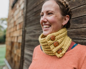 Comfort Cowl:Knitting Pattern- PDF Knitting Pattern, Knitted Wool Cowl Pattern