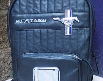 Mustang Backpack -  Leather With Chrome Emblems and Ashtray