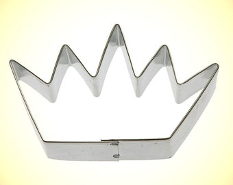 """Crown Cookie Cutter 3.5"""", birthday crown cookie cutter, first birthday cookie cutter, birthday crown for boys, party favor made in USA wt23"""