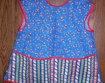 Childs Candy Cane Apron and Smock