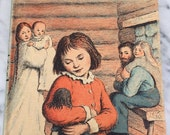 Vintage 1953 Little House in the Big Woods Laura Ingalls Wilder Illustrated Verson 50s Childrens book