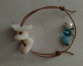 Lucky stones and leather bracelet