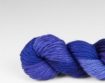Mini skein, handpainted yarn, Merino and Nylon, Fingering/Sock, Splash, Lupine.