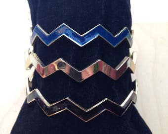 Vintage Zig Zag Bangle Bracelets