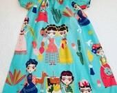 Frida dress, girl dress, Mexican dress