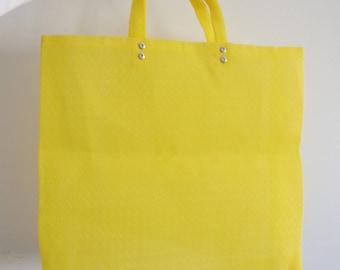 Bag Vintage Purse Mesh Yellow