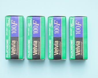 4 rolls expired Fujichrome Velvia 100F Medium Format 120 Color Slide Transparency Film Fujifilm