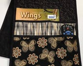 Quilted Armchair Caddy, Remote Holder, Bedside Pockets, Butterflies and Flowers