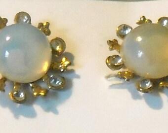 Opal Beauties Screw-on Earrings