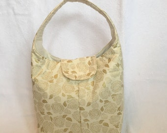 Lunch Bag Large Insulated Golden Roses