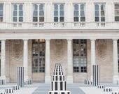 Paris Photography - Columns at the Palais Royal, Large Wall Art, Travel Photography, Neutral French Home Decor, Gallery Art, Architecture