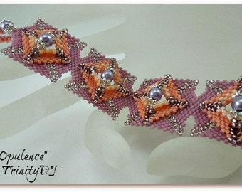 BRS-001-2016-164 - Opulence - Peyote Stitch Bracelet, Peyote Bracelet, beadwoven bracelet, beadwork bracelet, beaded bracelet, beadweaving