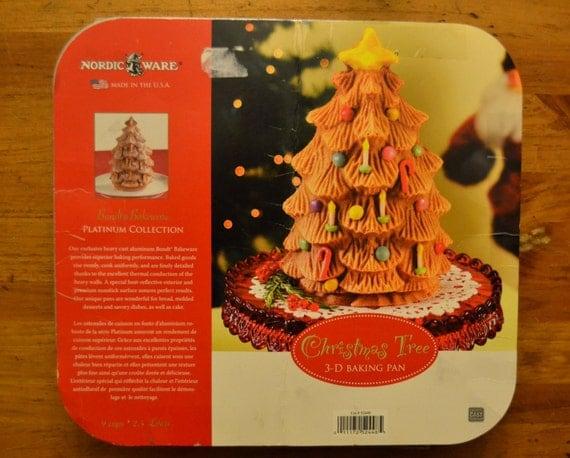 Nordic Ware 3d Christmas Tree Cake Pan Bundt Bakeware