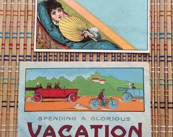 Spending a Glorious Vacation:  Beautiful Vintage Paper Ephemera, R